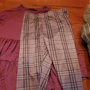 Bnwot never worn long sleeve and leggings